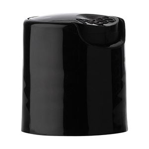 20-410 Black PP Smooth Wall Disc Top Cap