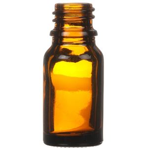 10 ml Amber Glass Dropper Bottle 18 mm Neck Finish-Front View