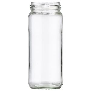 12 oz Clear Glass Jar 58-2020 Lug Neck Finish-Front View