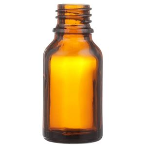 15 ml Amber Glass Dropper Bottle 18 mm Neck Finish-Front View