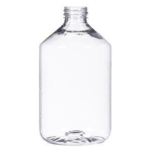 16 oz Clear PET Bottle 28-410 Neck Finish-Front View
