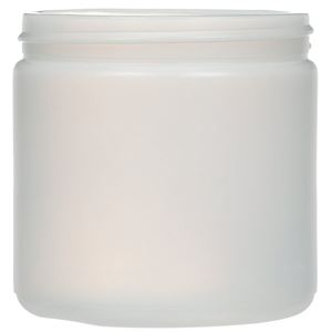 16 oz Natural HDPE Straight Sided Jar 89-400 Neck Finish-front View