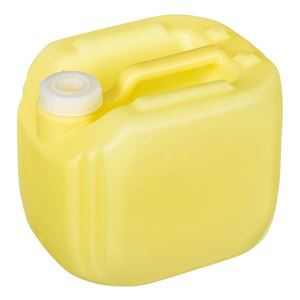 2.5 Gallon Translucent Yellow HDPE RT Series Jug 63 mm Neck Finish-Front View