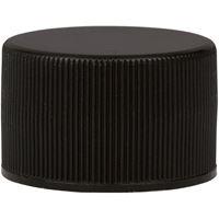 24-410 Black PP Continuous Thread Closure, Poly Vinyl Liner