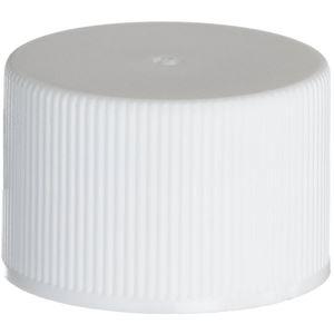 24-410 White PP Continuous Thread Closure, F217 Foam Liner