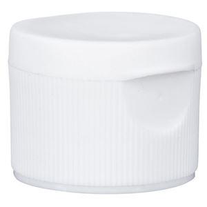 24-410 White PP Flip Top Cap, 0.125 Inch Orifice