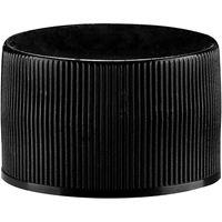 28-410 Black PP Continuous Thread Closure, Poly Vinyl Liner