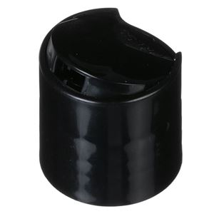 28-410 Black PP Smooth Wall Disc Top Cap