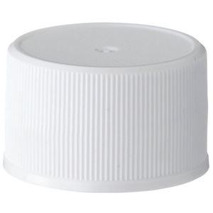 28-410 White PP Continuous Thread Closure, Poly Vinyl Liner