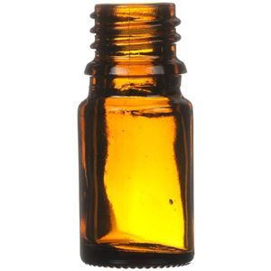 5 ml Amber Glass Dropper Bottle 18 mm Neck Finish-Front View