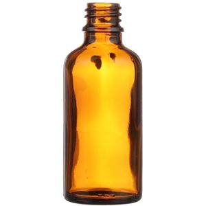 50 ml Amber Glass Dropper Bottle 18 mm Neck Finish-Front View