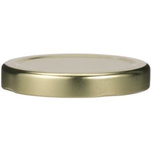 53 mm Gold Metal Lug Closure, Plastisol Liner