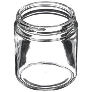 Picture of 4 oz Clear Glass Straight Sided Jar 58-400 Neck Finish, Round Base